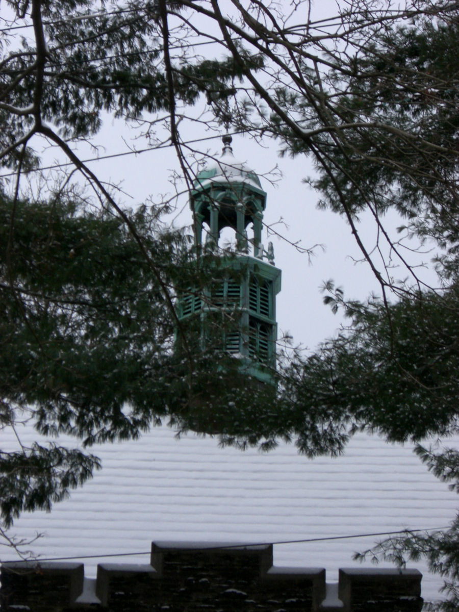 steeple with snow 1